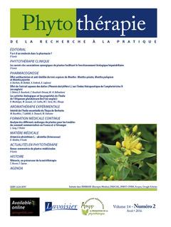Couverture de l'ouvrage Phytothérapie. Vol. 14 N°2 - Avril 2016