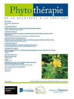 Couverture de l'ouvrage Phytothérapie. Vol. 14 N°6 - Décembre 2016