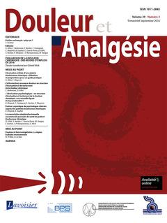 Couverture de l'ouvrage Douleur et Analgésie Vol. 29 N°3 - Septembre 2016