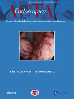 Couverture de l'ouvrage Acta Endoscopica Vol. 46 N° 3 - Mars 2016