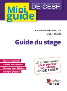 Couverture de l'ouvrage Guide du stage (DE CESF)