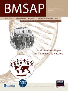 Couverture de l'ouvrage BMSAP Vol. 28 N° 1-2  Avril 2016
