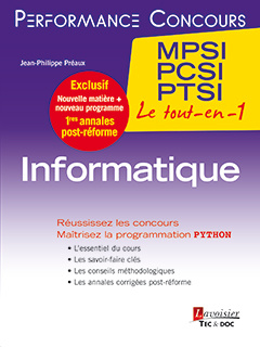 Cover of the book Informatique 1re année MPSI, PCSI, PTSI