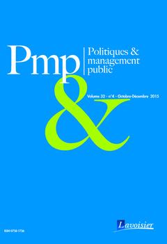Couverture de l'ouvrage Politiques & management public Volume 32 N° 4 - Octobre-Décembre 2015