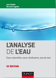 Couverture de l'ouvrage L'analyse de l'eau