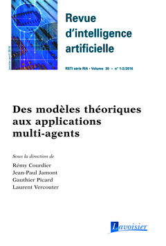 Couverture de l'ouvrage Revue d'intelligence artificielle RSTI série RIA Volume 30 N° 1-2/Janvier-Avril 2016