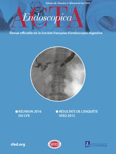 Couverture de l'ouvrage Acta Endoscopica Vol. 46 N° 4 - Juin 2016