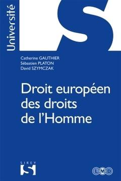 Couverture de l'ouvrage Droit européen des droits de l'homme
