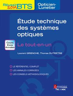 Couverture de l'ouvrage Étude technique des systèmes optiques