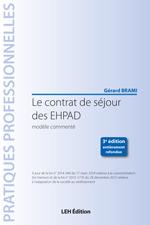 Couverture de l'ouvrage Le contrat de séjour des EHPAD, modèle commenté (3° Éd.)