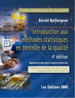 Couverture de l'ouvrage Introduction aux méthodes statistiques en contrôle de la qualité + brochure de synthèse + code d'accès vers fichiers