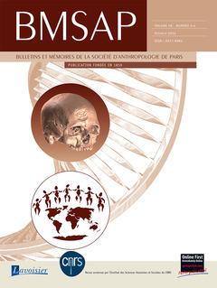 Couverture de l'ouvrage BMSAP Vol. 28 N° 3-4  Octobre 2016