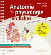 Couverture de l'ouvrage Anatomie et physiologie en fiches pour les étudiants en IFSI