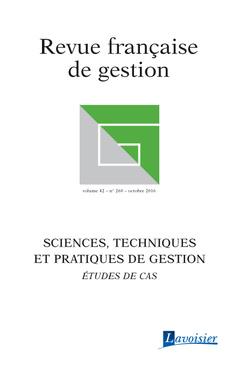 Couverture de l'ouvrage Revue française de gestion Volume 42 N° 260/Octobre 2016