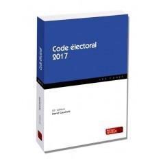 Couverture de l'ouvrage Code électoral 2017