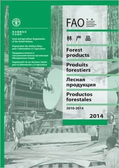Couverture de l'ouvrage FAO Yearbook - Forests Products 2010-2014 (Multilingual Ed.)