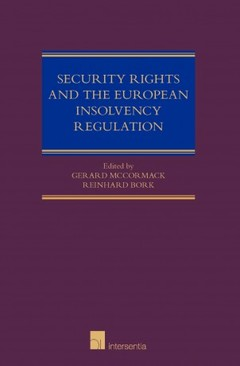 Couverture de l'ouvrage Security Rights and the European Insolvency Regulation