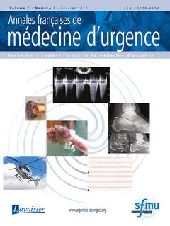 Couverture de l'ouvrage Annales françaises de médecine d'urgence Vol. 7 n°1 - Janvier-Février 2017