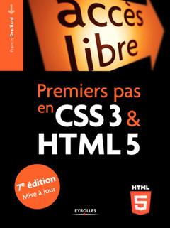 Couverture de l'ouvrage Premiers pas en CSS3 et HTML5