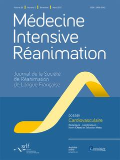 Couverture de l'ouvrage Médecine Intensive Réanimation Vol. 26 N°2 - Mars 2017