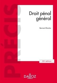 Couverture de l'ouvrage Droit pénal général