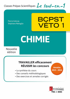 Cover of the book Chimie BCPST-VÉTO 1 (2e éd.)