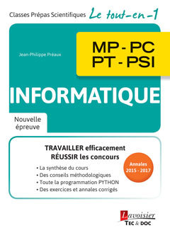 Couverture de l'ouvrage Informatique MP - PC - PT - PSI