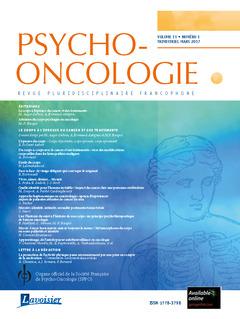 Couverture de l'ouvrage Psycho-Oncologie Vol. 11 N° 1 - Mars 2017