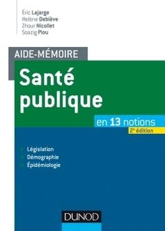 Couverture de l'ouvrage Santé publique (2° Éd.)
