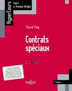 Couverture de l'ouvrage Contrats spéciaux