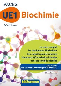 Couverture de l'ouvrage Biochimie UE1 - PACES