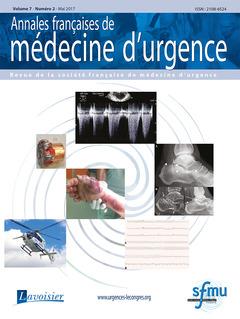 Couverture de l'ouvrage Annales françaises de médecine d'urgence Vol. 7 n°2 - Mai 2017