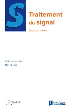 Couverture de l'ouvrage Traitement du signal Volume 33 N° 4/Octobre-Décembre 2016