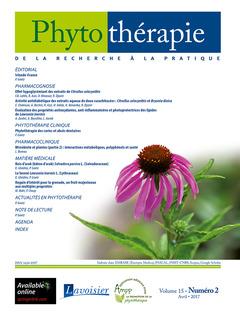 Couverture de l'ouvrage Phytothérapie. Vol. 15 N°2 - Avril 2017