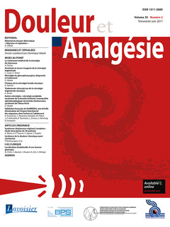 Cover of the book Douleur et Analgésie Vol. 30 N° 2 - Juin 2017