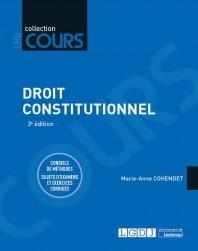 Couverture de l'ouvrage Droit constitutionnel