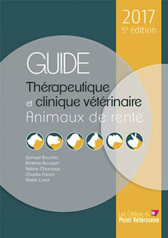 Couverture de l'ouvrage Guide thérapeutique et clinique vétérinaire 2017