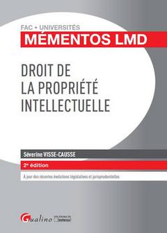Couverture de l'ouvrage Droit de la propriété intellectuelle