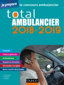 Couverture de l'ouvrage Total Ambulancier 2018-2019
