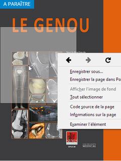 Couverture de l'ouvrage Le genou