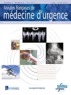 Couverture de l'ouvrage Annales françaises de médecine d'urgence Vol. 7 n° 3 - Juin 2017