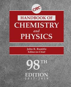 Couverture de l'ouvrage CRC Handbook of Chemistry and Physics 2017-2018 (98th Ed.)