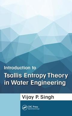 Cover of the book Introduction to Tsallis Entropy Theory in Water Engineering