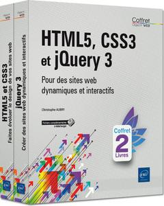 Couverture de l'ouvrage HTML5, CSS3 et jQuery 3 (Coffret de 2 livres)