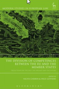 Cover of the book The Division of Competences between the EU and the Member States
