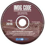 Couverture de l'ouvrage IMDG Code for Windows on CD-Rom (V13), 2016