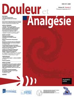 Couverture de l'ouvrage Douleur et Analgésie Vol. 30 N° 3 - Septembre 2017