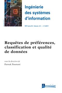 Couverture de l'ouvrage Ingénierie des systèmes d'information RSTI série ISI Volume 22 N° 3/Mai-Juin 2017