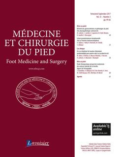 Couverture de l'ouvrage Médecine et chirurgie du pied Vol. 33 N° 3 - Septembre 2017