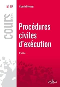 Couverture de l'ouvrage Procédures civiles d'exécution